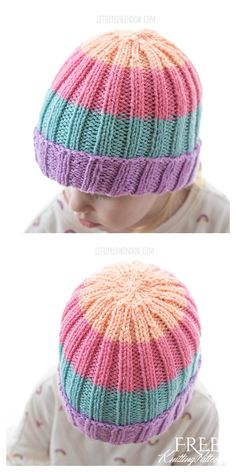 Baby Hat Knitting Patterns Free, Baby Hat Patterns, Baby Hats Knitting, Crochet Blanket Patterns, Free Knitting, Knit Hats, Knitting Ideas, Baby Knits, Knitted Baby