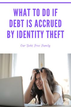 If you see something you don't recognize on your credit score, this is what you should do. These are the steps you need to take if debt is accrued by identity theft. Check Your Credit Score, Identity Theft, What Happens When You, Debt Free, Save Yourself, Advice, Tips, Counseling