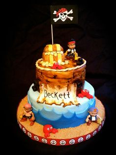 Image detail for -Kupkui Cakes: pirates cake: jack and neverland pirates Pirate Birthday, Pirate Party, Boy Birthday Parties, Birthday Cake, Birthday Ideas, Cupcake Couture, I Am Baker, Disney Cakes, Cupcake Cakes