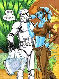 Aalya Secura from Star Wars! Comic Art Brendon Fraim