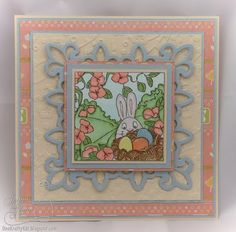 Easter Egg Nest by Art Impressions ... card with bunny