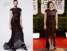 Elisabeth Moss In J.Mendel – 2014 Golden Globe Awards  I think this dress looked amazing on tv but does not photograph as well