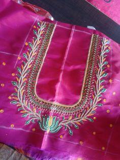 Wedding Saree Blouse Designs, Blouse Neck Designs, Saree Wedding, Blouse Styles, Lotus Flower Design, Gold Earrings Designs, Work Blouse, Fun Time, Designer Earrings