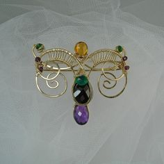 Layered Scroll Brooch -  Visit the 4th Artisan Market 303 E. Superior St. Chicago, IL November 10th & 11th, 2012