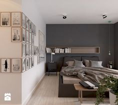 Dom we Francji Interior Architecture, Interior Design, Room Goals, Attic Rooms, Decoration, Master Bedroom, House, Inspiration, Furniture