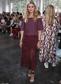 Olivia Palermo, 30, was front at center at the Tibi runway event during New…