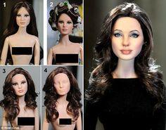 Noel Cruz Creations - Example of a Barbie make over - Amazing! Lifelike Dolls, Realistic Dolls, Doll Painting, Doll Repaint, Barbie Collector, Barbie Friends, Barbie World, Hollywood, Custom Dolls