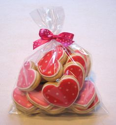 little heart cookies polka dots