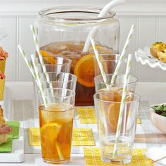 Smooth Sweet Tea Recipe -A pinch of baking soda eliminates bitterness in this smooth and easy-to-sip tea and it has just the right amount of sugar so it's not overly sweet. —kelseylouise, Taste of Home Community Member