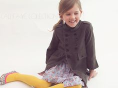 La Cadette manteau PDF pattern et tutoriel - tailles 2 t - 10 pour enfants - patron de couture