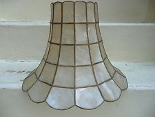 Vintage Capiz Lamp Shade Shell Lamp, Ceiling Fixtures, Lamps, Shells, Lighting, Ebay, Vintage, Ceiling Light Fittings, Lightbulbs