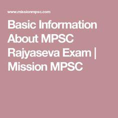 Basic Information About MPSC Rajyaseva Exam | Mission MPSC
