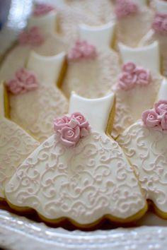 Bridesmaid Dress Cookies 10 Pieces Cookie Favors by MarinoldCakes Wedding Dress Cookies, Wedding Shower Cookies, Cookie Wedding Favors, Edible Wedding Favors, Cookie Favors, Decorated Wedding Cookies, Bridal Shower, Baby Shower, Fancy Cookies
