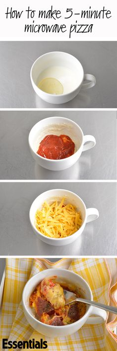 The only problem with knowing how to harness the power of your microwave to make pizza in a mug is that you'll want to do it all the time... www.essentials.co.za