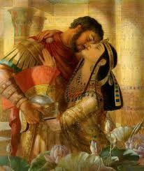 Cleopatra & Marc Antony by Leyendecker Fantasy Artwork, Fantasy Paintings, Mark Antony, Marco Antonio, Theme Tattoo, Egyptian Art, Egyptian Queen, Art History, Illustration Art