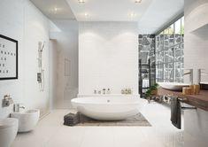 Do wanny wolnostojącej doskonale pasują baterie wielootworowe ;-) Zobacz sam! Bed N Bath, Happy House, Bathroom Interior Design, Clawfoot Bathtub, Teak, Toilet, Dom, Interiors, Iron