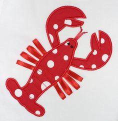 Lobster Applique Design. $4.50, via Etsy.