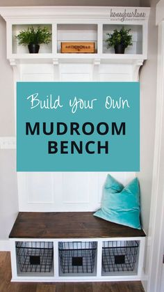 Every house needs a place for coats and shoes, and a mudroom needs a bench! This DIY mudroom bench is sure to fit in most spaces and wasn't too tricky! Mudroom bench with storage diy. Mudroom bench ideas. Rustic Furniture Diy, Decor, Bench, Home, Cheap Home Decor, Home Diy, Diy Furniture, Home Decor, Diy Mudroom Bench