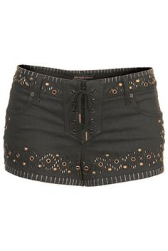 **Studded Denim Shorts by Kate Moss for Topshop - View All - Shorts - Clothing | Topshop
