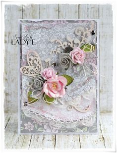 Scrap Art by Lady E: Two Messy Cards - Wild Orchid crafts DT