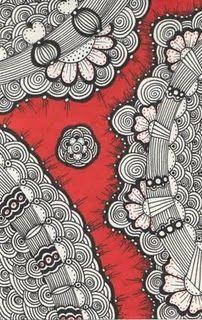 Red doodles http://timelessrituals.blogspot.com #zentangle #doodle #red