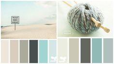 Pastellfarben - Mintgrün, Aqua, Creme und Grau