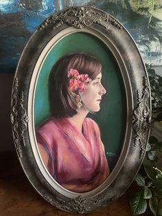 Oil painting in vintage frame