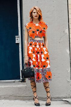 Nylon Magazine, The Eye Travels, Samantha Angelo, NYFW, NYFW Day2, 2015, SS16, Fashion Week, NYC, Donald Brooks, Vintage, Shrimpton Couture, Orange Hair, Fashion Blog, Fashion Blogger