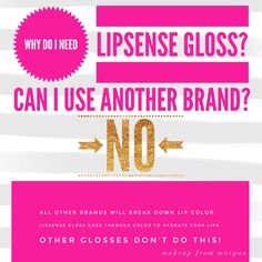 Why LipSense Gloss?  LipSense Makeup from Morgan ID 198827