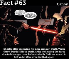 Fun fact: Sidious actually lost his lightsaber in the fight against Mace Windu, so there was no way he could actually threaten Vader with it Star Wars Rpg, Star Wars Rebels, Star Wars Humor, Star Wars Clone Wars, Star Wars Love, Star Wars Fan Art, Anakin Vader, Darth Vader, Reylo
