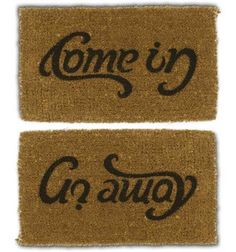 amazing welcome mat with typography