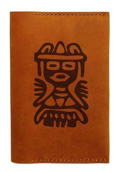 Vietsbay Unisex Set of Mexican Symbols Handmade Genuine Leather Passport Holder