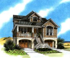 Coastal Home Plans Santa Rosa Sound Lake House House Ideas