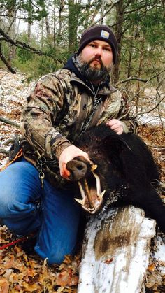 Monty Morrison and a nice Texas Catch.  Hog Hunting with Dogs  www.SouthernCrossCutGear.com