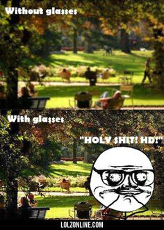 Without Glasses Vs With Glasses#funny #lol #lolzonline