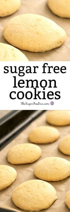 EASY Sugar Free Lemon Cookies This is actually to make and to eat! EASY Sugar Free Lemon Cookies This is actually to make and to eat! Sugar Free Cookie Recipes, Sugar Free Deserts, Sugar Free Baking, Sugar Free Sweets, Sugar Free Cookies, Sugar Free Biscuits, Sugar Free Lemon Bars, Sugar Free Drinks, Gluten Free Biscuits