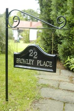House Name Signs plaques property names real estate Bromley place House Name Plaques, House Name Signs, House Names, Home Signs, Address Signs For Yard, House Address Sign, Address Plaque, Driveway Sign, Cottage Names