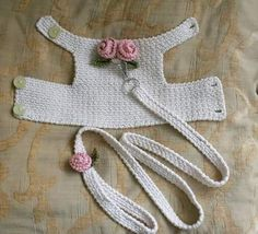 Dog harness with Matching Leash Pet clothing, Dog Harness Dog vest Crochet Dog Harness Dog Vest Small Dog Harness Harness with Lesh BubaDog This dog harness has two beautiful handmade roses on its back . The dog harness is made out of Cream cotton fabric. Crochet Dog Clothes, Crochet Dog Sweater, Pet Clothes, Dog Clothing, Animal Clothes, Crochet Poncho, Chat Crochet, Dog Vest, Dog Wedding