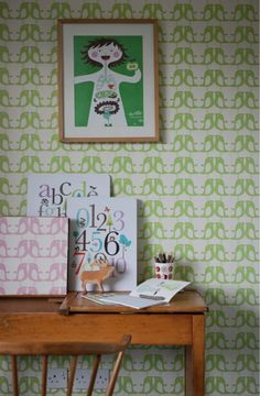 Penguin behang - Groen | Behang | Beautiful Happy Things - Isak & more