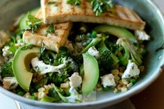 Healthy Vegan Salads, Avocado and tofu @ashersocrates