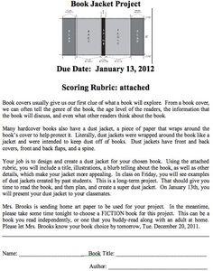 Book Jacket Report