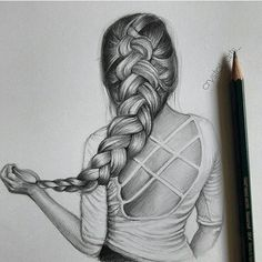 Find images and videos about girls, art and clothes on We Heart It - the app to get lost in what you love. Abstract Pencil Drawings, Girl Drawing Sketches, Dark Art Drawings, Girly Drawings, Art Drawings Sketches Simple, Realistic Drawings, Princess Drawings, Creative Pencil Drawings, Pencil Sketches Of Girls