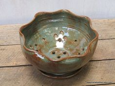 Berry Bowl in Rustic Desert Sage by KismetPottery on Etsy, $34.00