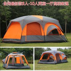 On sale US $155.20 Luxury ultralarge high quality one hall two bedrooms 6 8 10 12 outdoor c&ing tent 215cm height waterproof party family tent #Luxury ... & Top 10 Best Large Camping Tents of 2017 - Family Camping Tent ...