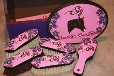 Custom Horse Grooming Box Kit. $250.00, via Etsy.