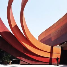 Courtyard of the Holon Design Museum by Ron Arad