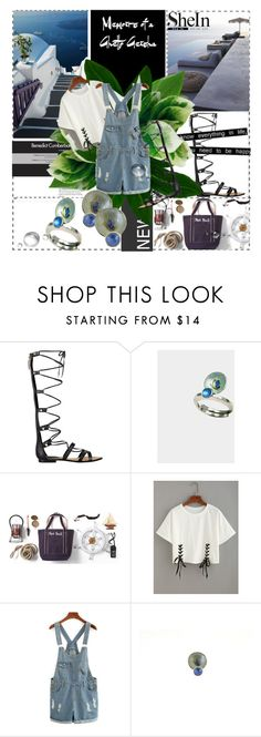 """My lovely vacation !"" by giampourasjewel ❤ liked on Polyvore featuring Lori's Shoes, GUESS, Lands' End and shein"