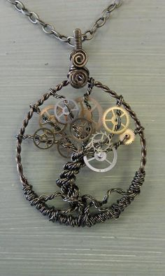 Recycle Reuse Renew Mother Earth Projects: How to make a Steam Punk Tree of Life pendant
