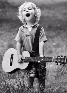 Become The Best Guitar Player Out There! Cute Kids Photography, Lifestyle Photography, Shadow Photography, Beautiful Children, Beautiful Babies, Best Guitar Players, Music For Kids, Black And White Pictures, Cool Guitar