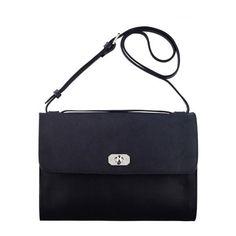 Minimal bag (27.790 RUB) ❤ liked on Polyvore featuring bags, handbags, blue bag, blue purse and blue handbags